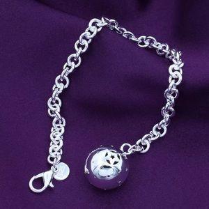 Silver Plated Big Love Charm Bracelet